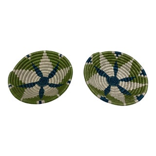 African Kazi Woven Bowls - a Pair For Sale