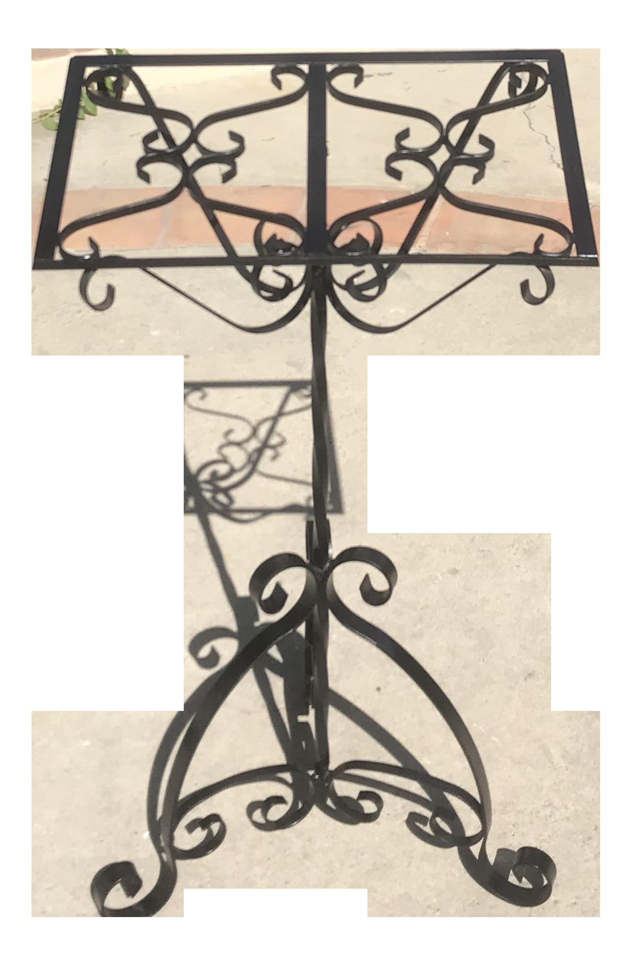 Vintage Wrought Iron Music Stand Chairish