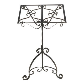 Vintage Wrought Iron Music Stand For Sale
