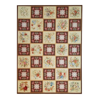 """Pasargad Aubusson Hand Woven Wool Rug - 8' 9"""" x 11'10"""""""
