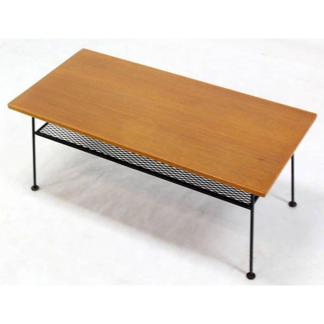 Metal Mid-Century Modern Coffee Table by Mattieu Mategot For Sale - Image 7 of 8