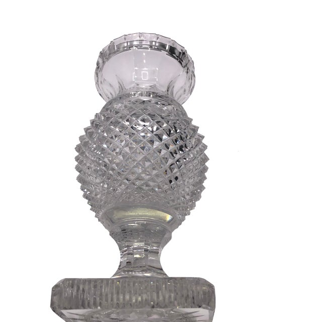 English Antique English Regency Cut Crystal Vase For Sale - Image 3 of 7