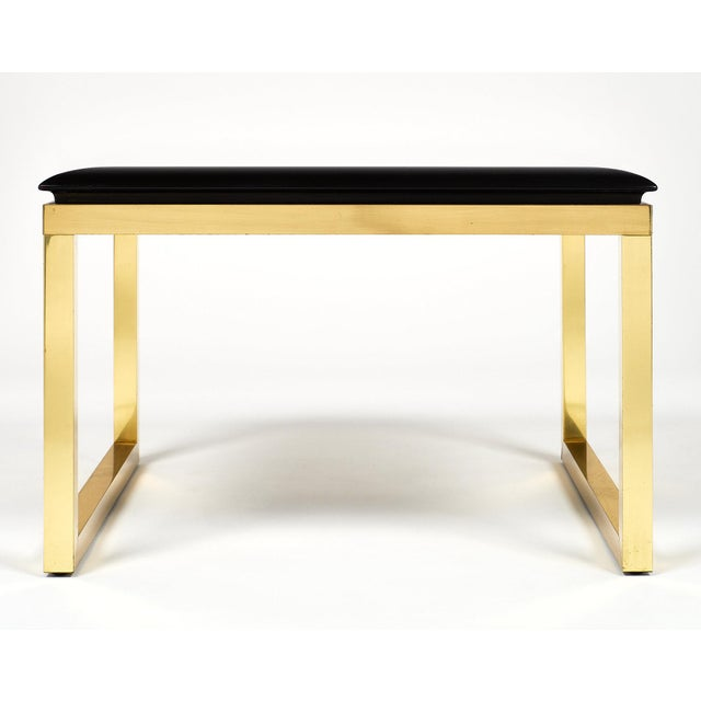 Gold Pair of Mid-Century Smoked Glass Side Tables For Sale - Image 8 of 11
