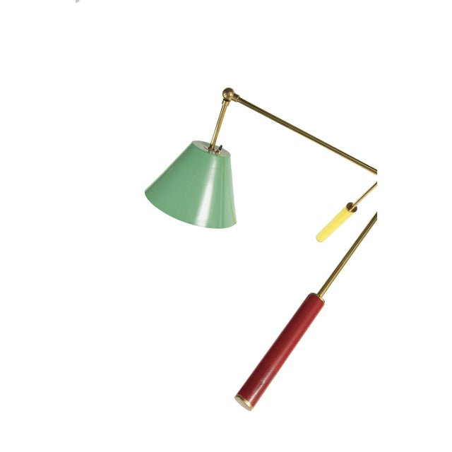 Mid-Century Modern Triennale Floor Lamp Attributed to Gino Sarfatti For Sale - Image 3 of 9