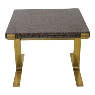 1980s Mid-Century Modern Knoll Style Occasional Table For Sale