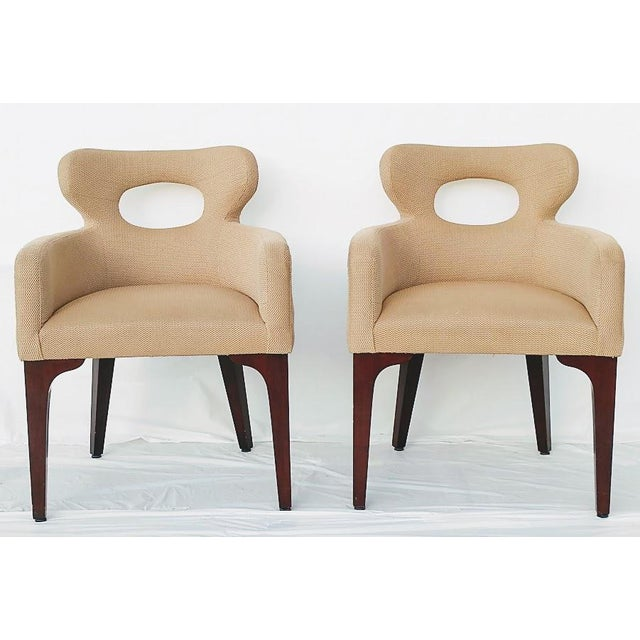 Taupe Mid Century Mark David Design Masters Collection Pq1072 Accent Chairs- a Pair For Sale - Image 8 of 9