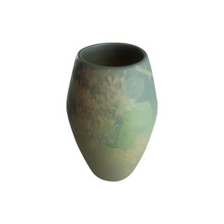 C.1905 Weller Pottery Floral Motif Vase For Sale