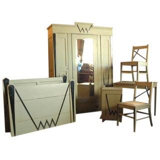 Austrian Deco Bedroom Set - 6 Pieces For Sale