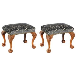 Pair of Safari Motif Benches