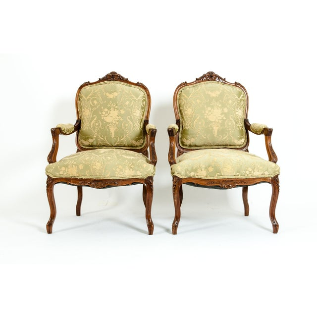 Mid-19th Century Mahogany Wood Frame Salon Suite - 3 Pc. Set For Sale - Image 10 of 13