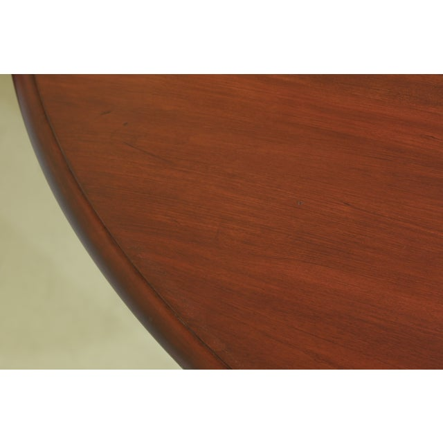 Queen Anne Henkel Harris Oval Cherry Model 2206 Dining Room Table For Sale - Image 3 of 12