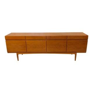 1960s Danish Modern Kofod Larsen Teak Credenza For Sale