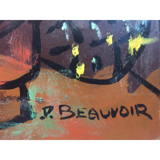 1950s Paul Beauvoir Abstract Painting - Image 3 of 9