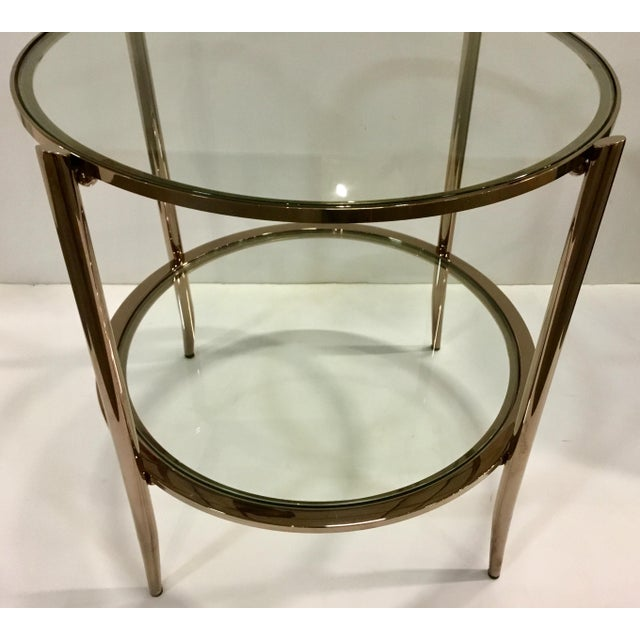 Modern Modern Caracole Metal and Glass at First Blush End Table For Sale - Image 3 of 5