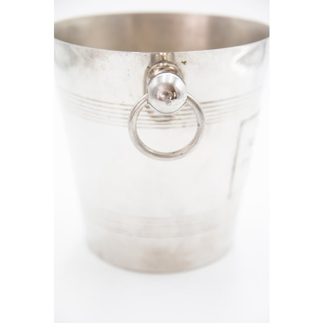 Mid 20th Century Mid-Century French Silver Plate Champagne Bucket For Sale - Image 5 of 8