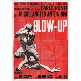 Blow-Up 1967 Italian Quattro Fogli Film Poster For Sale