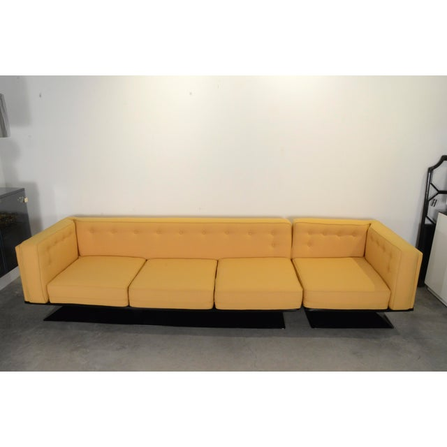 Upholstered in a New Yellow Knoll Wool MIM Roma (Ico Parisi) Sectional Sofa by Luigi Pellegrin - Image 3 of 10