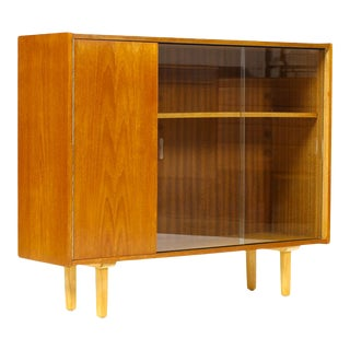 1960s Mid Century Teak Display Cabinet For Sale