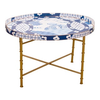 Dana Gibson Canton in Blue Coffee Table For Sale