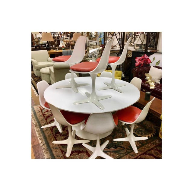 Mid-Century Modern Saarinen Tulip Dining Set by Burke Usa, 1970s For Sale In New York - Image 6 of 13