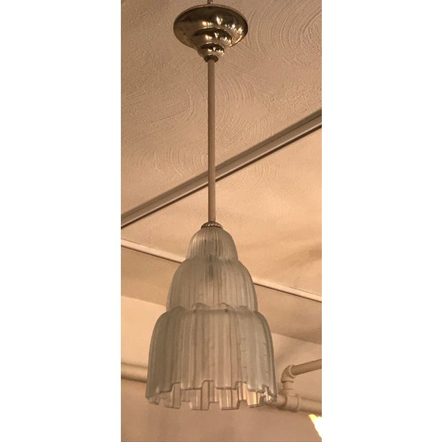 Early 20th Century French Art Deco Waterfall Chandeliers Signed by Sabino - a Pair For Sale - Image 5 of 11