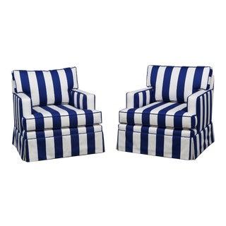 Modern Custom Made Club Chairs- A Pair
