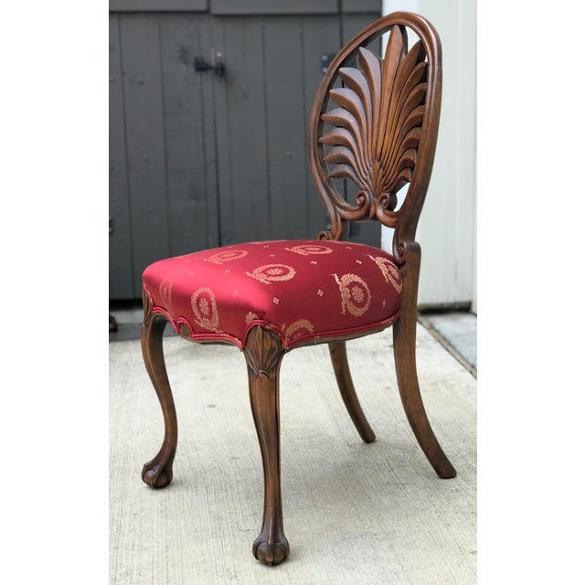 Mid 19th Century Antique Walnut Austrian Chairs- Set of 4 For Sale - Image 9 of 12