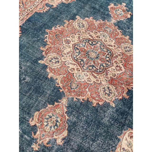 Large Distressed Oushak Rug For Sale - Image 11 of 13
