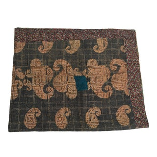 Brown/ Neutral Tribal Kantha Quilt For Sale