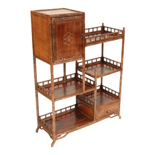 1930s Chinese Teak Wood Etagere For Sale