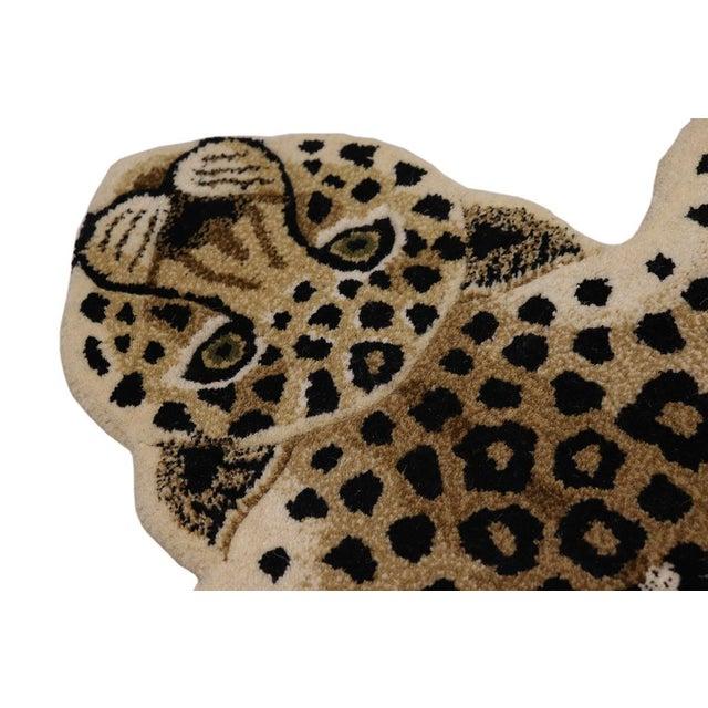 Contemporary Decorate Wild Animal Design Handcuffed Area Rug- 3′ × 5′ For Sale - Image 9 of 11