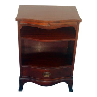 1940s Federal Mahogany Serpentine Single Night Stand