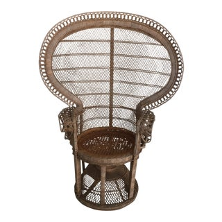 Bohemian Chic Wicker Fan Back Peacock Chair