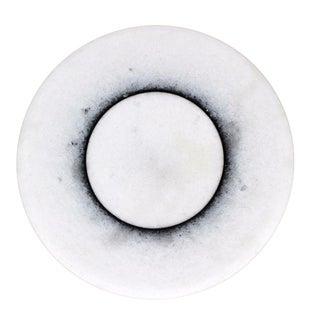 Giullo Lazzotti for Casigliani Italy Mid-Century Modern White Marble Art Plate For Sale