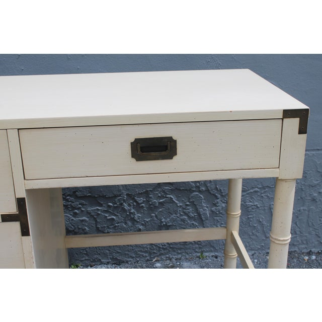 1970's Dixie Mid Century Campaign Writing Desk - Image 7 of 11