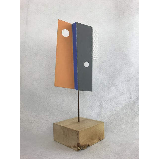 1980s 1980s Modern Geometric Perforated Metal Sculpture For Sale - Image 5 of 10