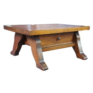 Antique Early American Style Pine Foot Stool For Sale