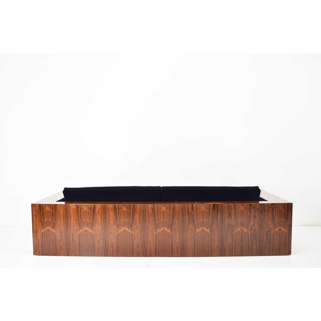 Milo Baughman for Thayer Coggin Rosewood Case Sofa in Maharam Mohair For Sale - Image 9 of 13