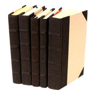 Canvas Collection Black Books - Set of 5 For Sale