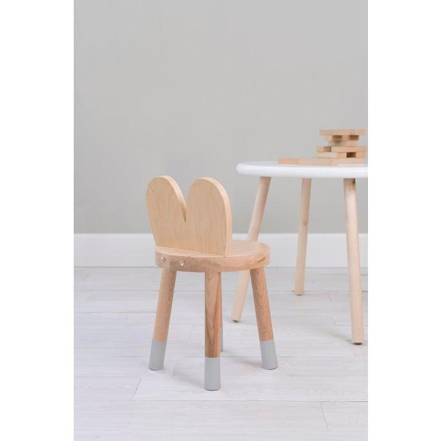 Modern Nico & Yeye Lola Kids Chair Solid Maple and Maple Veneers Gray - Set of 2 For Sale - Image 3 of 4