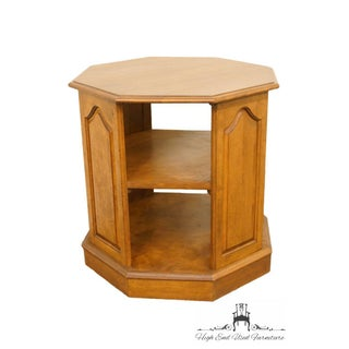 Ethan Allen Heirloom Nutmeg Maple Octagonal Tiered End / Lamp Table Preview