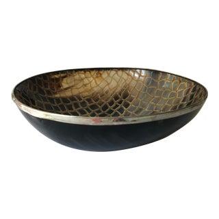 Vintage Etched Horn Bowl