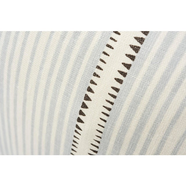 Contemporary Schumacher Double-Sided Pillow in Moncorvo Stripe Linen Print For Sale - Image 3 of 7