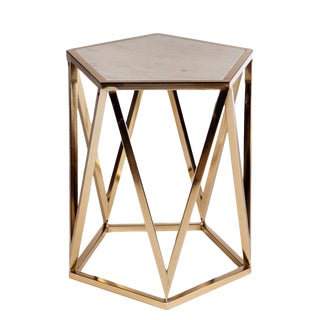 Charlyn Marble Top Side Table For Sale