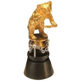 "19th Century Russian Ormolu ""Dancing Bear"" Sculpture"