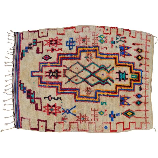 Vintage Moroccan Azilal Rug - 5'5'' x 3'11'' - Image 6 of 6