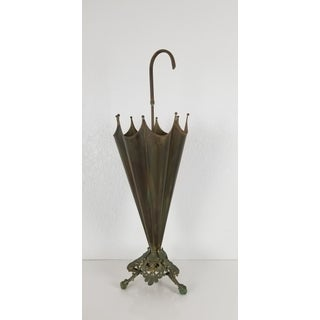 Italian Brass Umbrella Stand With Eagle Feet Preview