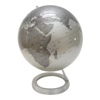 Atmosphere Globes Full Circle Vision Globe in Silver For Sale