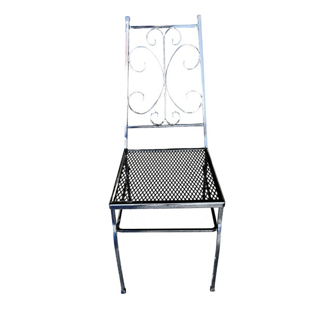 Mid-Century Modern Mid Century Outdoor/Patio Side Chair With Scrolling Pattern - Set of 4 For Sale - Image 3 of 9
