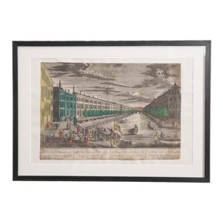 Suite of Twenty-Four French 18th-Century Hand-Colored Vue d'Optique Etchings For Sale